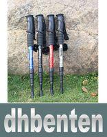 Wholesale LAI180 High Quality aluminum alloy alpenstocks ultra strong external lock rod straight shank Ski pole outdoor equipment