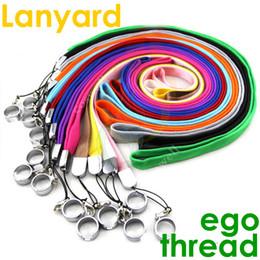 Lanyard of electronic cigarettes ego ego-t ego-k ego-c ego w evod battery mods ego 510 thread starter kits Necklace String Neck Chain Clip