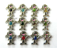Wholesale Mix color Girl Floating Charms DIY Charms fit for Floating Charms Locket FC033