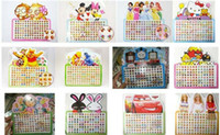 Wholesale Hot Sale sheets pairs Popular cartoon mix Style Multicolor stick on earring rings stickers Fashion Gift
