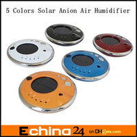 Wholesale 5 New Solar Anion Air Humidifier Aroma Diffuser Lonizer Purifier For Car Or Home