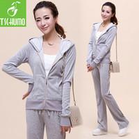 Wholesale Spring Korean version of casual sportswear track suit ladies fashion boutique velvet sports suit women jogging suits