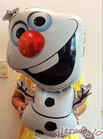 Wholesale 2014 new Frozen Olaf Party Foil Helium Balloon Birthday Party Wedding Decoration Supplies Kids Gift Toy frozenc457