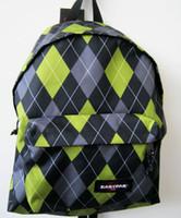 Day Packs argyle bag - Green gray rhombus daypack tartan Eastpak brand day pack Durable nylon lozenge eastpack bag Argyle backpack