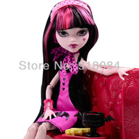 Wholesale New Style fashion toys monster high original dolls Draculaura and Dining table Y7719 with retail box