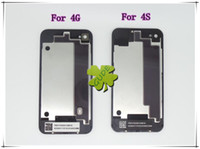 Wholesale For iphone G GS S Back Glass Housing Battery Cover Black And White Color High Quality AAA DHL EMS