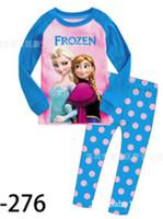Wholesale 2014 autumn sleepwear Frozen long sleeve baby girl dress dresses Children s Pajamas Kids Clothing Fleece Kids Pajamas Set Direct Line pajama