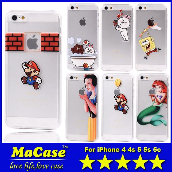 ... Clear PC Case Cover Cases for iPhone 4 4S 5 5S 5C 30 Designs Available