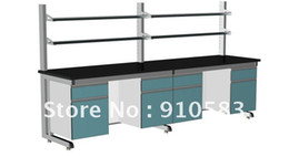 Wholesale 3 meters steel wooden lab furniture steel wood laboratory side bench table BT GM3600