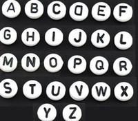 Wholesale Free Ship Mixed Alphabet Letter Acrylic Spacer Beads mm Free Ship