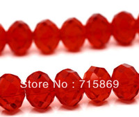 Wholesale AAA Top Quality Red Rondelle Crystal Glass Faceted Loose Bead x8 mm Strand