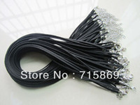 Wholesale Black cm mm Faux Suede leather cord Necklace chain with lobster clasps mm MM