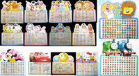 Wholesale Gift DHL Sheet Cartoon mix Different Cartoon Pattern Multi Color stick on earring rings stickers Fashion Gift