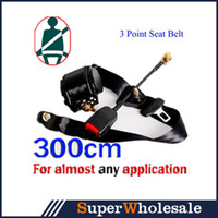 Wholesale New Point Auto Car Safety Seat Belt Harness for Toyota Jeep VW Ford BMW Retractable CM Black Color DHL