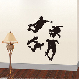 Wholesale Cool Sliding Plate Sports Vinyl Wall Stickers Art Decal for Kids Room Decor