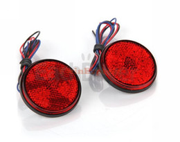 Wholesale 10x Car Vehicle Red Round Brake Stop Tail Rear Light Lamp Auto Bulb High Power