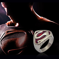 punk lots costume jewelry - Movie jewelry fashion classic Superman Ring of Superman Returns Cospaly Costume rings Jewelry With Titanium Steel
