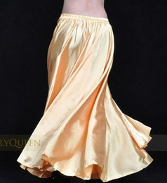 Wholesale 16pcs Color Elegant Satin Long Gypsy Skirts Belly dance costume dress Ballroom Dance Ball Gown Women Performance Skirt tq001