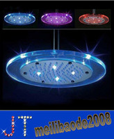 Wholesale Free Round Color Changing Automatic Control LED Shower Head Bathroom Sprinkler HSA0643