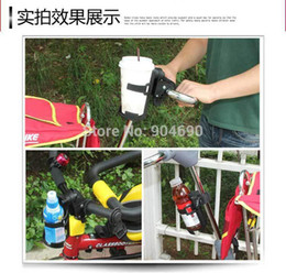Wholesale Baby milk bottle cup drink bottle holder for stroller Baby cart bicycle rotatable