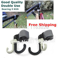 Wholesale DX002 High Quality Baby Stroller Pram Double Rotate Hook Pushchair Hanger Stainless Steel Shaft EVA Slip resistant Free Ship