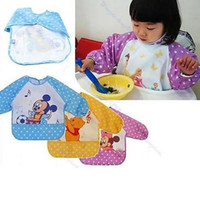 Wholesale 1Pc New Hot Cute Children Baby Todder Waterproof Long Sleeve Art Smock Bib Apron