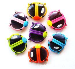 Wholesale 5 Colors Kids Sunglasses Cartoon Folding Sunglasses Children s Ladybird Beach Goggles Vintage Sunglasses Mix order