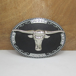 BuckleHome bull head belt buckle for 4cm wideth belt with silver finish FP-03003 free shipping