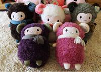 Unisex alpaca pillow - Sheep plush toy doll thermal cartoon pillow alpaca hand Warmer handwarmer pocket pink color