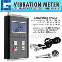 acceleration transducer - VM Displacement Velocity Acceleration Hz kHz Range Tester Digital Vibration Meter Piezoelectric Transducer Sensor