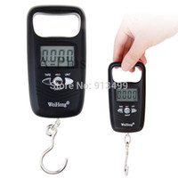 <50g Pocket Scale Yes Wholesale-Top Popular 10kg 5g Digital Fish Hanging Luggage Weight Electronic Hook Scale Black Free Shipping SV000062