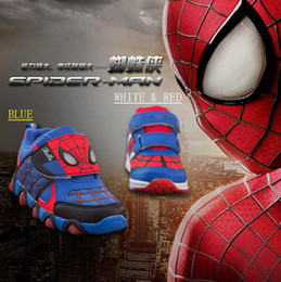 Wholesale EMS SEND Hot shoes Spiderman children sneakers Boys girls shoes Breathable running shoes sale drop shipping outlets pairs ZL