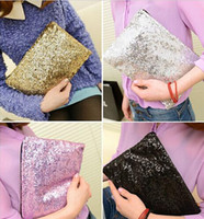 Wholesale Sparkling Bling Sequin Clutch Purse Evening Party Handbag Bag ax134 Freeshipping