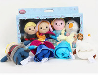 Wholesale Free DHL Frozen Finger Puppet Of Stuffed Hand Dolls Baby Toys Flush Olaf Kristoff Anna Else Christmas Gift For Kids Factory Price