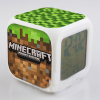 Wholesale My World Minecraft coolie afraid of small alarm clock Desk Table Clocks TT39173410939 H