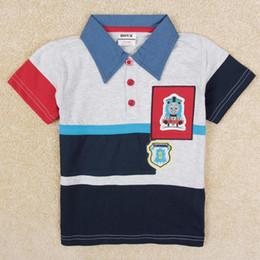 Wholesale shirt polo baby boy clothes new fashion summer boys shirts t shirts short sleeve cotton cartoon stock in grey nova C5189