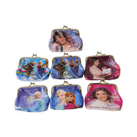 Wholesale Cartoon Frozen Coin Purse with iron button Anna Elsa Olaf shell bag wallet Purses children child Gifts