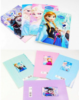 Wholesale 4 colors new Frozen Cartoon Drawing Coloring Books with Stickers Crayon Painting Notebook frozenC77