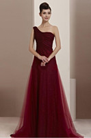 Cheap 2014 Sequins Lace Bridesmaid Dresses A-Line Atrapless One Shoulder Backless Sweep Train With Ruched