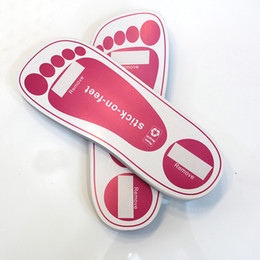 Wholesale NEW ARRIVE SPRAY TANNING STICKY FEET STICK ON FOOT PROTECTORS FOR FAKE TAN PINK PAIRS