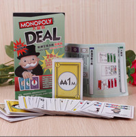 Wholesale 2016 Monopoly Deal Card Game Funny Popular Board Game Set Toy for Kids with high quality