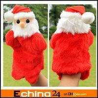 Stuffed Plush Big Kids 27cm Christmas Santa Claus Plush Hand Puppet Manual Control Santa Claus Dolls