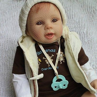 Unisex Birth-12 months PVC Wholesale-20 inches Ultra reborn silicone baby Gift chiristmas presents for children doll