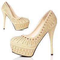 Wedding Pumps High Heel Hot Sales Rhinestone Sparkling Crystal Bridal Bridesmaid Luxury 14cm High Heels Party Prom Shoes 2014 Wedding Women's Shoes DL1311248