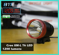 Wholesale 1200 Lumen in CREE XM L T6 LED Bicycle bike HeadLight Lamp Flashlight Light Headlamp with Rechargeable Battery Charger
