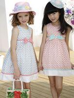 Wholesale Hot Sale Summer Elgent Dressy For Big Girl Sleeveless Butterfly Sundress Dressy Girl Girl s Party Princess Dress Skirts Pink Blue J1416
