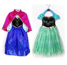 Wholesale New Arrival Frozen kids clothing Anna girls dresses Anna costume baby styles