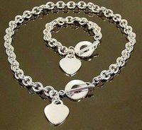Jewelry Sets good quality jewelry - Fashion Jewelry Set Sterling silver Necklace and Bracelet Nice Jewelry Good Quality S76