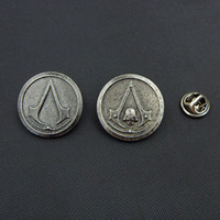Wholesale New Arrival Vintage Brooch Assassins Creed III Assassins Creed IV Black Flag Skull Cosplay Costume Brooch Pin