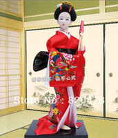 Wholesale Oriental Broider Doll Japanese Old style figurine Japanese doll statue J20